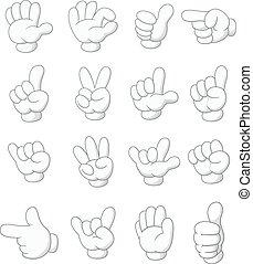 Cartoon collection hand shape