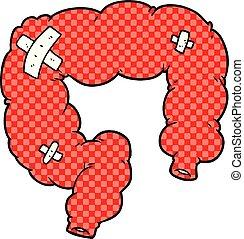 cartoon colon