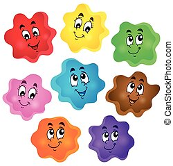 Cartoon color shapes collection