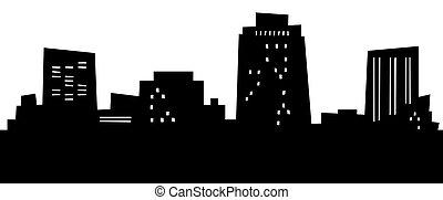 Cartoon Colorado Springs - Cartoon skyline silhouette of the...