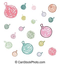 Cartoon colored christmas ball decorations