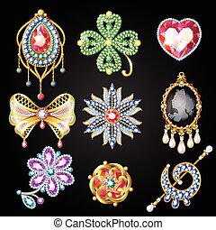 Cartoon Colorful Beautiful Jewelry Collection - Cartoon...
