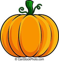 Cartoon Colorful Pumpkin