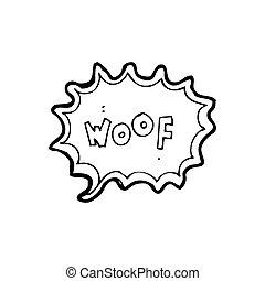 cartoon comic book dog bark