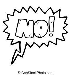 cartoon comic book No! shout