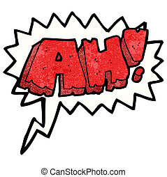 cartoon comic book shout