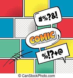 cartoon comic book template