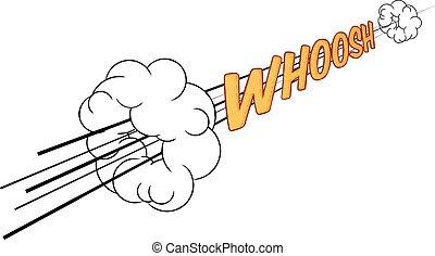 Cartoon Comic Book Whoosh Fast Sound Effect - A cartoon...