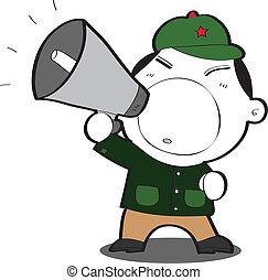cartoon Communist - vector illustration of a cartoon...