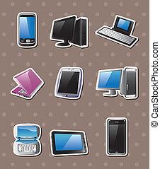 cartoon computer stickers