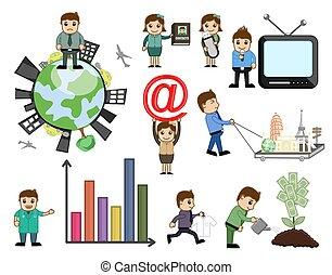 Cartoon Concepts Vector Set