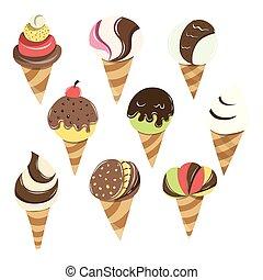 Cartoon Cone Ice Cream