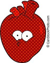 cartoon confused heart
