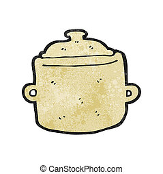 cartoon cooking pot