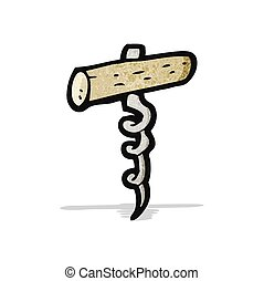 cartoon corkscrew