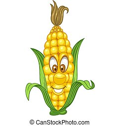 Cartoon Corn Vegetable