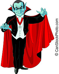 Cartoon Count Dracula - Cartoon Count Dracula posing with...