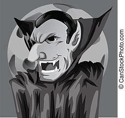 Cartoon Count Dracula