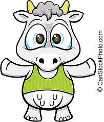 cartoon cow 02