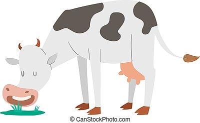 Cartoon cow character isolated - Milk cow bull buffalo ...