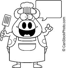 Cartoon Cow Chef Idea