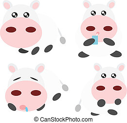 Cartoon cow illustration
