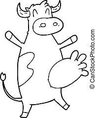 cartoon cow swinging udder