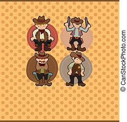 cartoon cowboy card