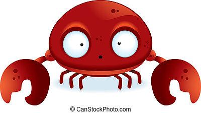 Cartoon Crab - A little cartoon crab with claws.
