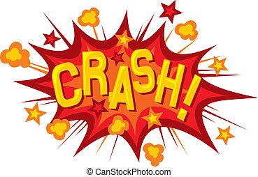 cartoon - crash (comic book element)