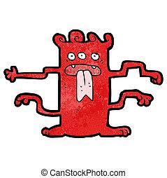 cartoon crazy alien