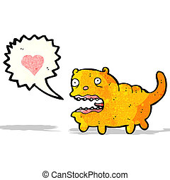 cartoon crazy cat in love