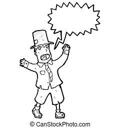 cartoon crazy tramp