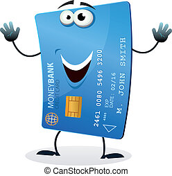 Cartoon Credit Card Character - Illustration of a cartoon ...