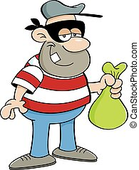 Cartoon Criminal - Cartoon illustration of a criminal...
