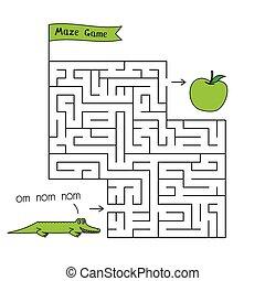 Cartoon Crocodile Maze Game