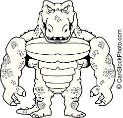 Cartoon Crocodile Monster Man