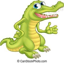 Cartoon Crocodile or Alligator