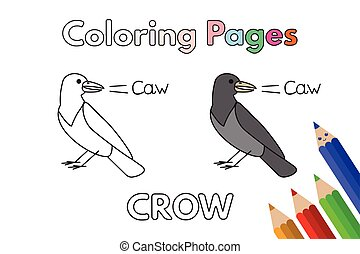 Cartoon Crow Coloring Book