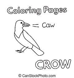 Cartoon Crow Coloring Book