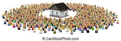 Cartoon Crowd, House