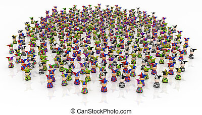 Cartoon Crowd, Jesters