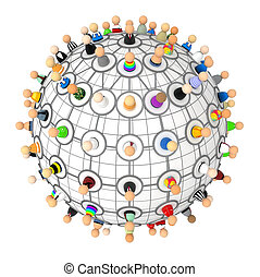 Cartoon Crowd, Link Plan Sphere
