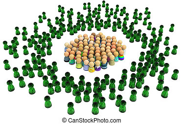 Cartoon Crowd, Virtual People