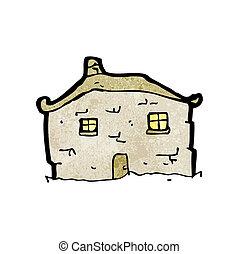 cartoon crumbling old house