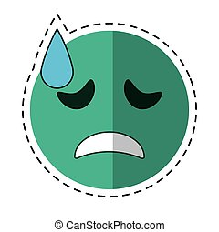 cartoon crying face emoticon funny