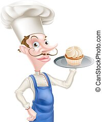 Cartoon Cupcake Baker