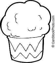 cartoon cupcake