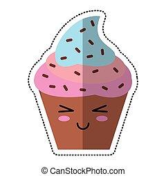 cartoon cupcake sweet dessert