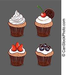 Cartoon Cupcakes Collection